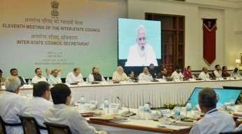 Prime Minister Narendra Modi at the eleventh Inter-State Council Meeting
